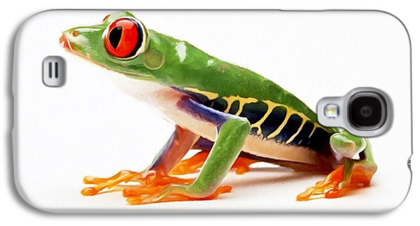 Spring Peepers Galaxy S4 Cases - Red-eye tree frog 4 Galaxy S4 Case by Lanjee Chee