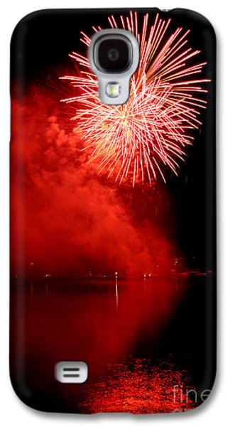4th July Galaxy S4 Cases - Red fire Galaxy S4 Case by Martin Capek
