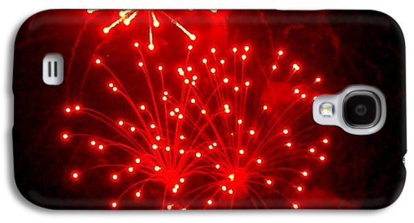 4th July Galaxy S4 Cases - Red Fireworks Galaxy S4 Case by Janette Boyd