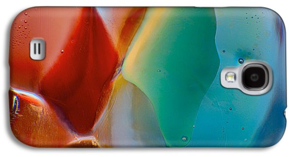 Blue Abstracts Glass Galaxy S4 Cases - Red Fish Green Fish Galaxy S4 Case by Omaste Witkowski
