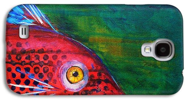 Piranha Galaxy S4 Cases - Red Fish Galaxy S4 Case by Nancy Merkle