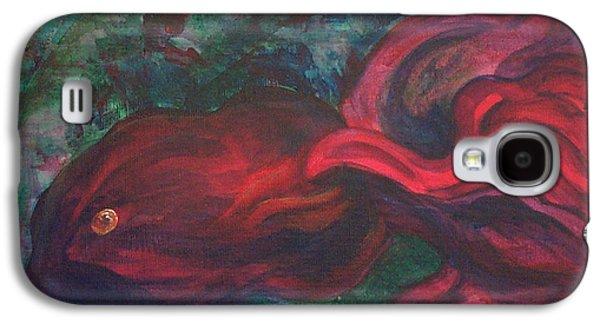 Coasting Galaxy S4 Cases - Red Fish Galaxy S4 Case by Sheri Lauren Schmidt