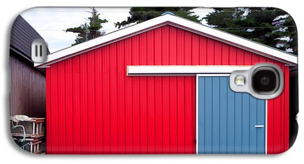 Shed Galaxy S4 Cases - Red Fishing Shack PEI Galaxy S4 Case by Edward Fielding
