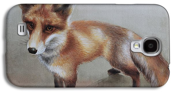 Fox Kit Paintings Galaxy S4 Cases - Red Fox Galaxy S4 Case by Ezartesa