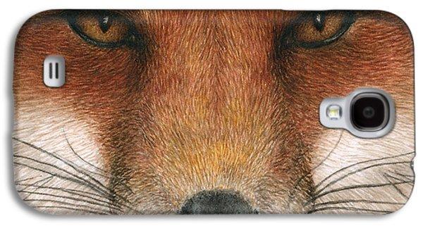 Red Fox Galaxy S4 Cases - Red Fox Gaze Galaxy S4 Case by Pat Erickson