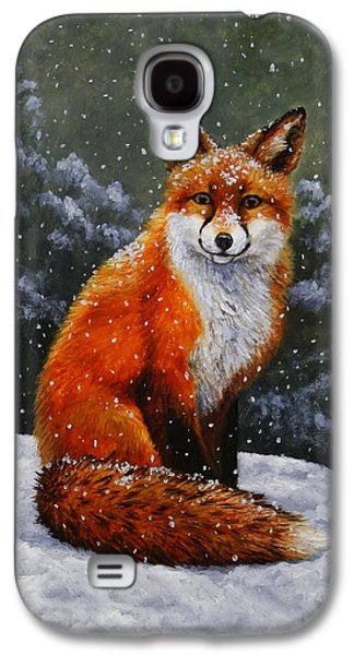 Red Fox Galaxy S4 Cases - Red Fox iPhone Case Galaxy S4 Case by Crista Forest