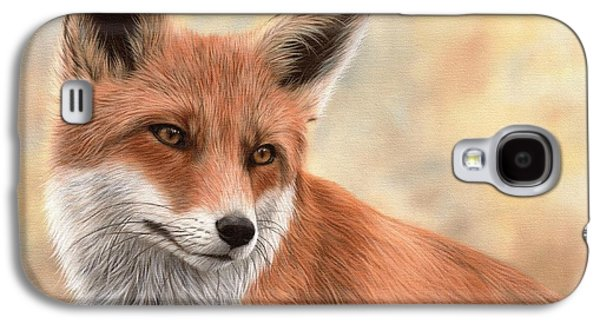 Red Fox Galaxy S4 Cases - Red Fox Painting Galaxy S4 Case by Rachel Stribbling
