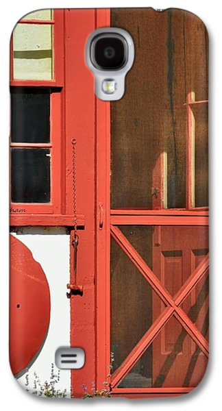 Screen Doors Galaxy S4 Cases - Red Framed Window and Door Galaxy S4 Case by Kae Cheatham