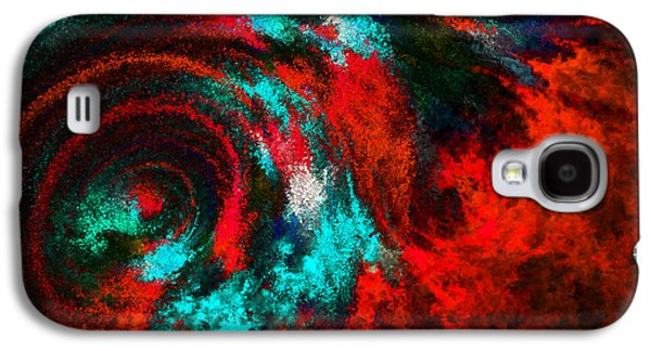 Fury Digital Art Galaxy S4 Cases - Red Fury Galaxy S4 Case by Lourry Legarde