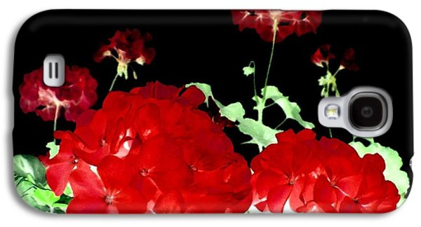 Red Geraniums Galaxy S4 Cases - Red Geraniums Galaxy S4 Case by Will Borden