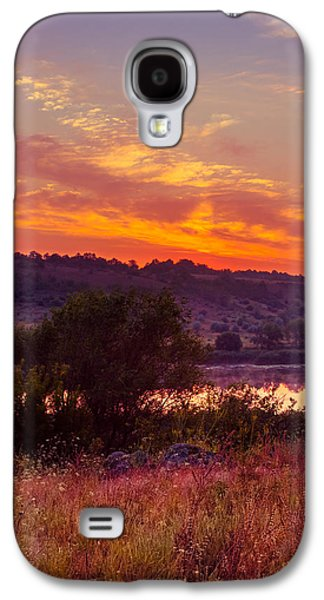 Landscapes Photographs Galaxy S4 Cases - Red grass Galaxy S4 Case by Dmytro Korol