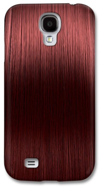 Wavy Galaxy S4 Cases - Red Hair Perfect Straight Galaxy S4 Case by Allan Swart