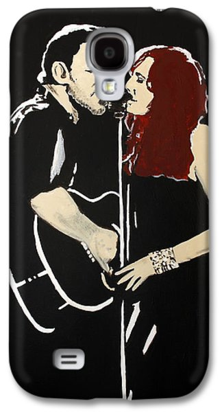 Bruce Springsteen Paintings Galaxy S4 Cases - Red Headed Woman Galaxy S4 Case by Carmencita Balagtas
