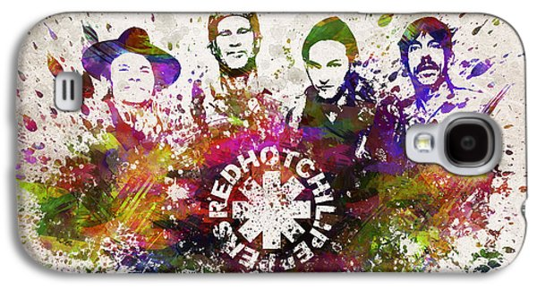 Grunge Galaxy S4 Cases - Red Hot Chili Peppers in Color Galaxy S4 Case by Aged Pixel