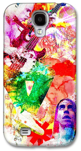 Original Paintings Galaxy S4 Cases - Red Hot Chili Peppers  Galaxy S4 Case by Ryan RockChromatic