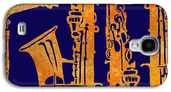 Digital Collage Galaxy S4 Cases - Red Hot Sax Keys Galaxy S4 Case by Jenny Armitage