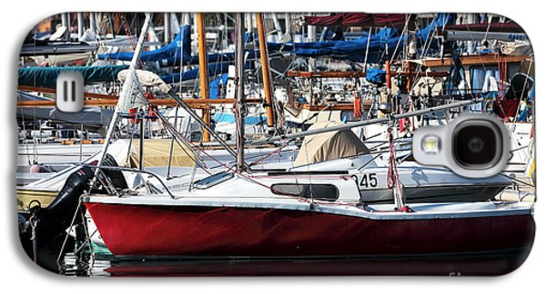 Sailboats In Water Galaxy S4 Cases - Red in the Port Galaxy S4 Case by John Rizzuto