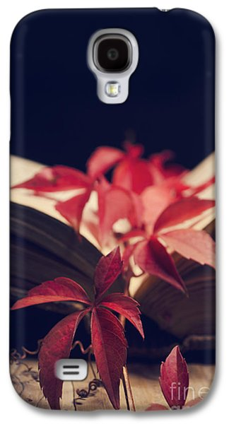 Bible Pyrography Galaxy S4 Cases - Red ivy in the book Galaxy S4 Case by Jelena Jovanovic