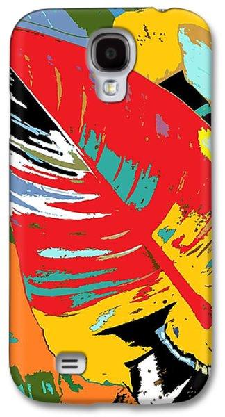 Alga Paintings Galaxy S4 Cases - Red Leaf Galaxy S4 Case by Julio R Lopez Jr