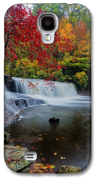 Red Leaves In Dupoint Park Hooker Falls Galaxy S4 Case by Andres Leon