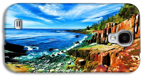 Photo Manipulation Galaxy S4 Cases - Red Ledge at Quoddy Head Galaxy S4 Case by Bill Caldwell -        ABeautifulSky Photography