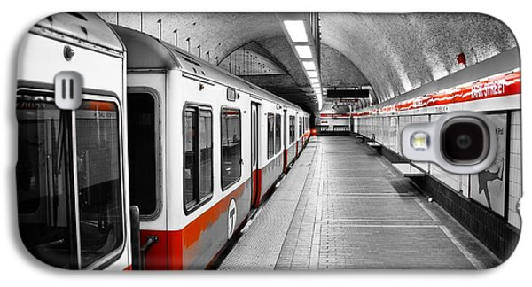 City Scene Galaxy S4 Cases - Red Line Galaxy S4 Case by Charles Dobbs