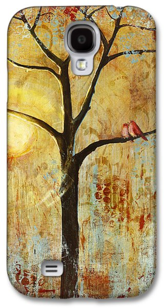 Studio Galaxy S4 Cases - Red Love Birds in a Tree Galaxy S4 Case by Blenda Studio