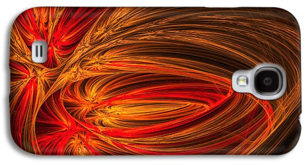 Fractal Art Galaxy S4 Cases - Red Luminescence-Fractal Art Galaxy S4 Case by Lourry Legarde