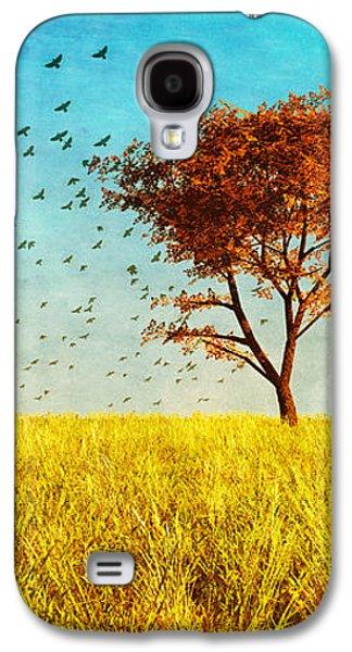 Dreamscape Galaxy S4 Cases - Red Maple Galaxy S4 Case by Bob Orsillo