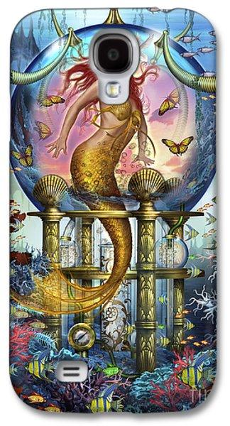 Jester Digital Art Galaxy S4 Cases - Red Mermaid Galaxy S4 Case by Ciro Marchetti