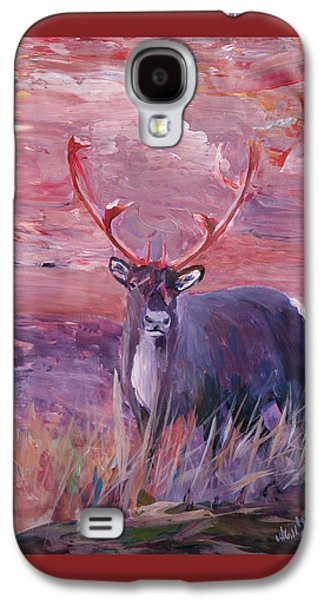 Swiss Mixed Media Galaxy S4 Cases - Red Mighty Moose Mongoose Reindeer Elk Rentier Caribou Galaxy S4 Case by M Bleichner