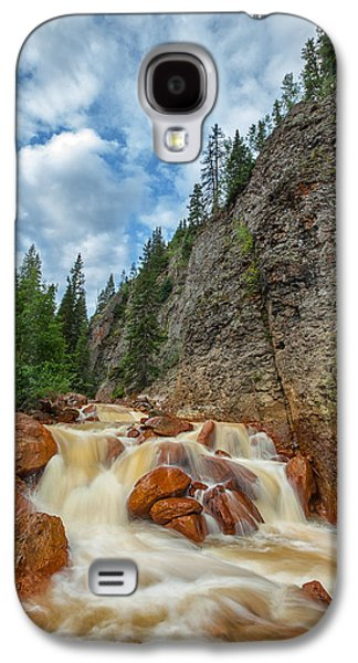 Landscape Acrylic Prints Galaxy S4 Cases - Red Mountain Creek Galaxy S4 Case by Darren  White