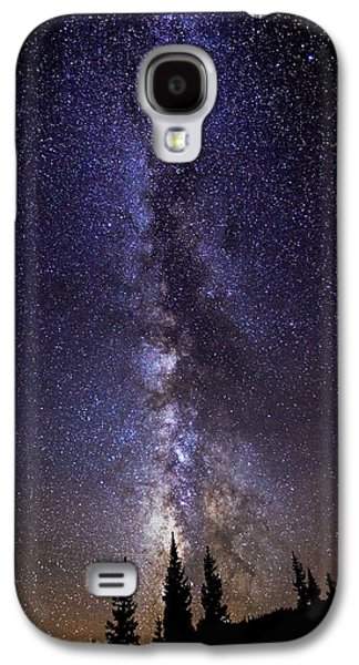 Landscape Metal Prints Galaxy S4 Cases - Red Mountain Milky Way Galaxy S4 Case by Darren  White