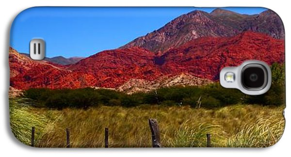 Studio Photographs Galaxy S4 Cases - Red Mountains Galaxy S4 Case by FireFlux Studios