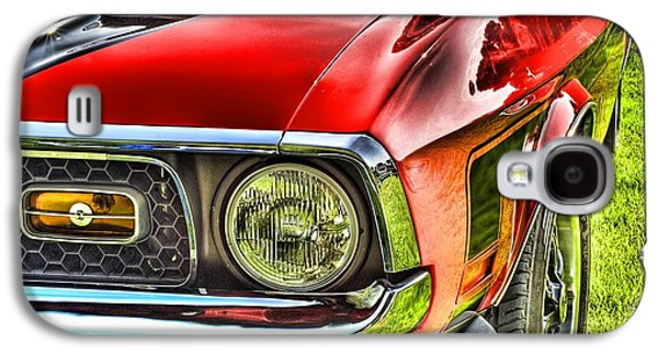 Transportation Pyrography Galaxy S4 Cases - Red Mustang Galaxy S4 Case by Meir  Jacob