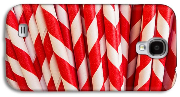 Abstract Fountain Galaxy S4 Cases - Red Paper Straws Galaxy S4 Case by Edward Fielding