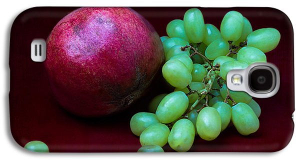 Grapes Art Deco Galaxy S4 Cases - Red Pomegranate And Green Grapes Galaxy S4 Case by Alexander Senin