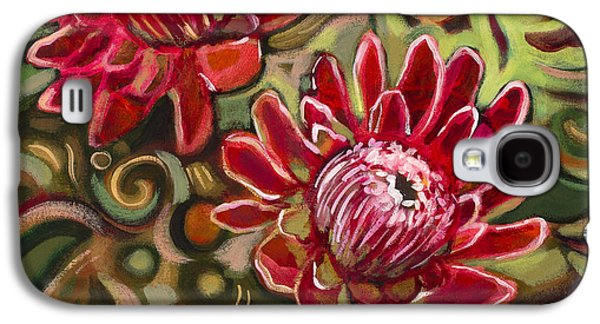Earth Tones Galaxy S4 Cases - Red Proteas Galaxy S4 Case by Jen Norton
