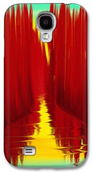 Abstract Digital Paintings Galaxy S4 Cases - Red Reed River Galaxy S4 Case by Anita Lewis