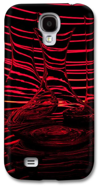 Abstraction Photographs Galaxy S4 Cases - Red rhythm III Galaxy S4 Case by Davorin Mance