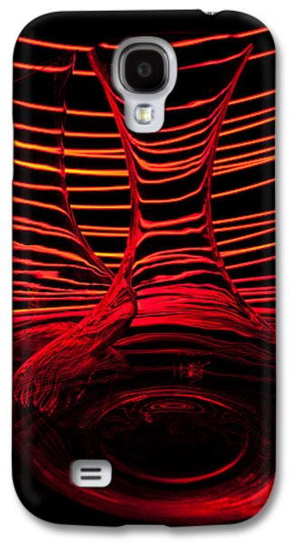 Abstraction Photographs Galaxy S4 Cases - Red rhythm IV Galaxy S4 Case by Davorin Mance
