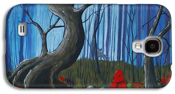 Girl Galaxy S4 Cases - Red Riding Hood in the Forest Galaxy S4 Case by Anastasiya Malakhova