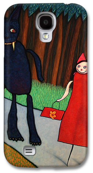 Little Galaxy S4 Cases - Red Ridinghood Galaxy S4 Case by James W Johnson