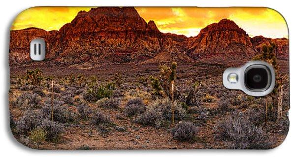 Oak Creek Photographs Galaxy S4 Cases - Red Rock Canyon Las Vegas Nevada Fenced Wonder Galaxy S4 Case by Silvio Ligutti