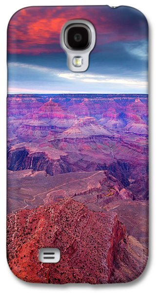 Grand Canyon Photographs Galaxy S4 Cases - Red Rock Dusk Galaxy S4 Case by Mike  Dawson