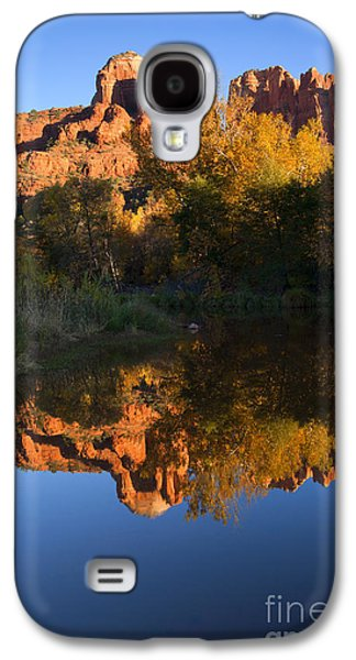 Cathedral Rock Galaxy S4 Cases - Red Rock Reflections Galaxy S4 Case by Mike  Dawson