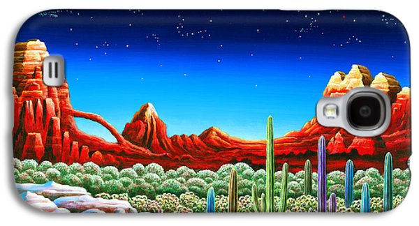 Self Discovery Paintings Galaxy S4 Cases - Red Rocks 5 Galaxy S4 Case by Andy Russell