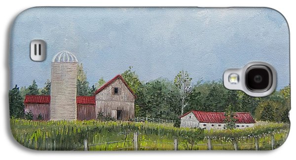 Red Roofed Barn Galaxy S4 Cases - Red Roof Barns Galaxy S4 Case by Reb Frost