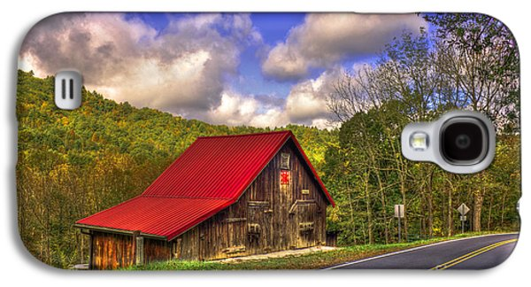 Red Roofed Barn Galaxy S4 Cases - Red Roof In The Blue Ridge Mountains Galaxy S4 Case by Reid Callaway