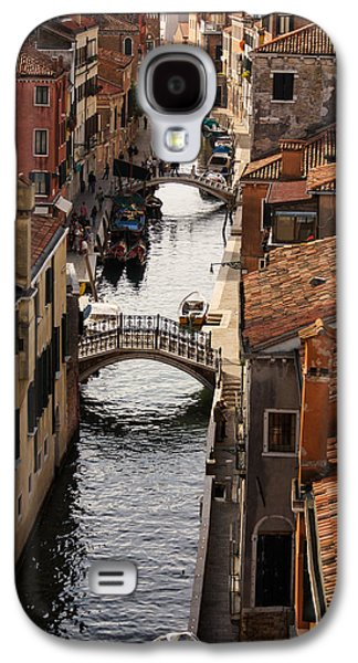 Landmarks Photographs Galaxy S4 Cases - Red Roofs of Venice Galaxy S4 Case by Georgia Mizuleva